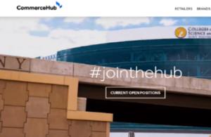 Screenshot of CommerceHub's website, designed by Akullian Creative
