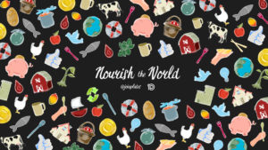 nourish the world cover for art company in New York