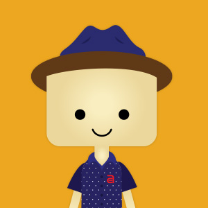 A custom-designed cartoon of our creative director and storyteller, Rich