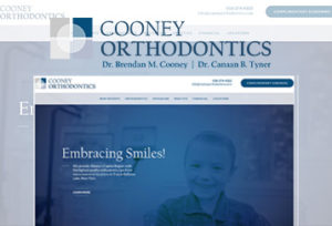 Preview of a custom-designed and professional website for an orthodontic practice