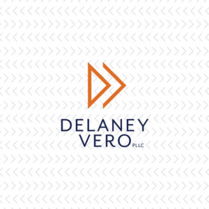 The updated, modern logo for a law firm as part of their rebrand