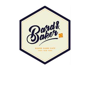 Bard & Baker Board Game Cafe logo in Troy, NY