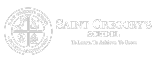 White logo for Saint Gregory's Catholic School