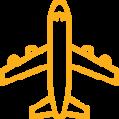 Yellow airplane icon