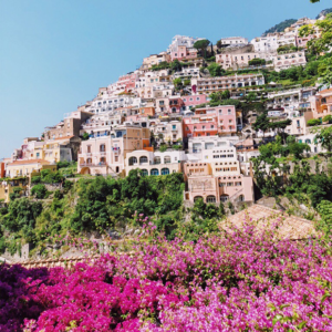 The colorful Amalfi Coast of Italy during summer time