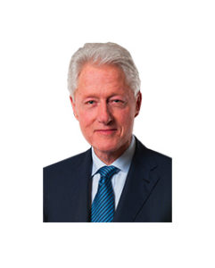 Headshot of the former President Bill Clinton against a white background