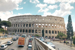 The Colosseum in Rome, Italy on a sunny summer's day