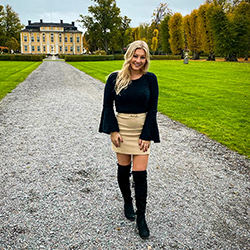 A young blonde girl in Stockholm, Sweden