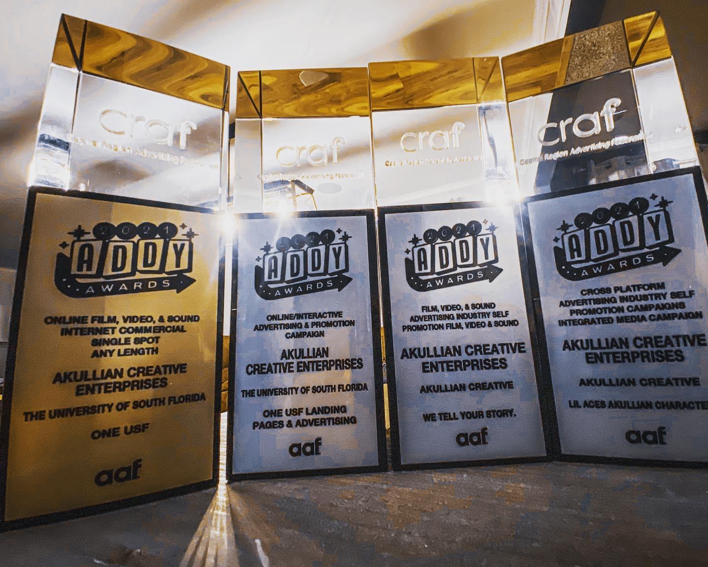 advertising awards for Akullian Creative