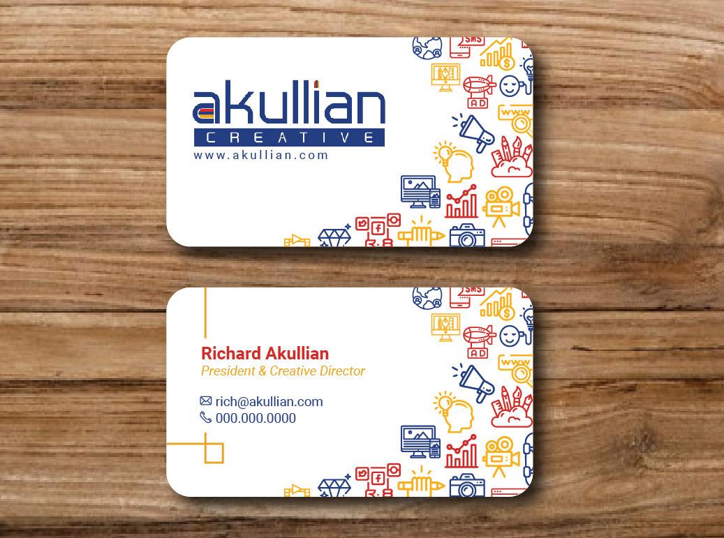 Akullian Creative business cards
