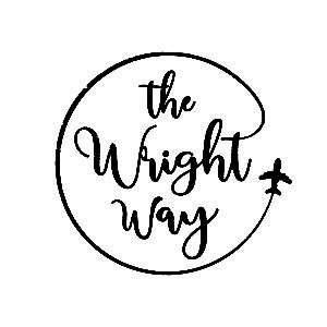 The logo for The Wright Way Travel