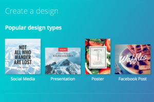 Preview of Canva, a design tool for digital marketers