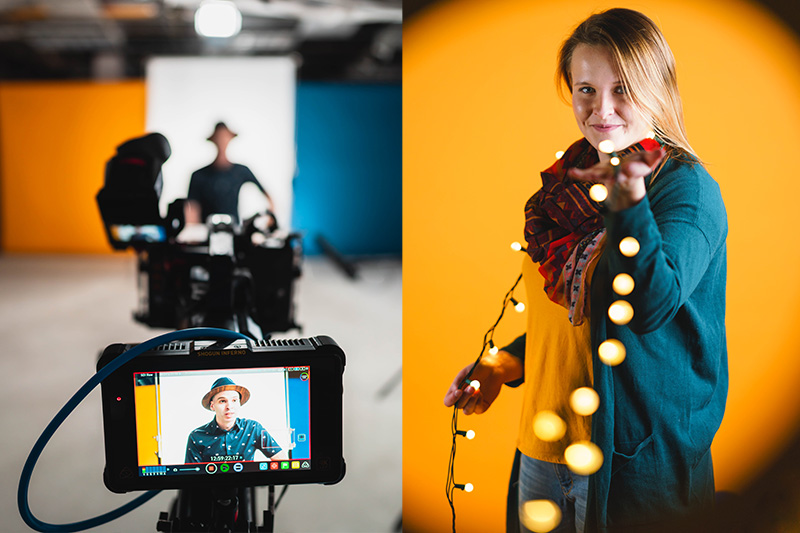 Behind the scenes and fun headshots from our rebrand