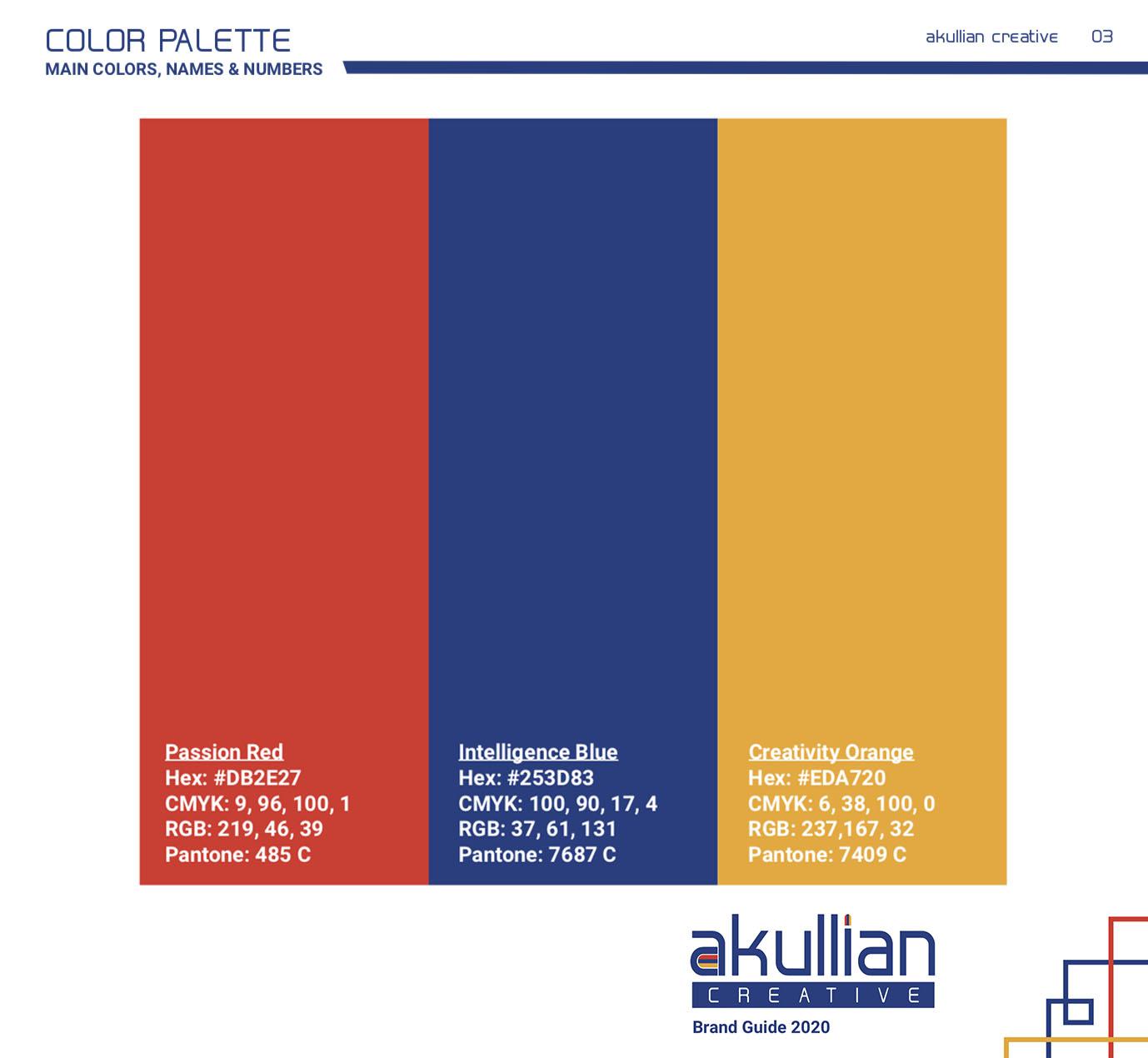 Akullian Creative new brand guide