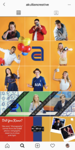 Screenshot of Akullian Creative's Instagram profile, New York's best digital marketing firm