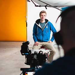 Behind the scenes shots of our lead film producer, Andrew
