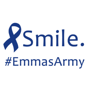 The logo for Emma's Army, a charity organization for a young girl with a rare form of cancer