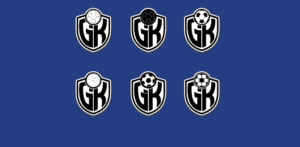 Six logo variations for a niche website specifically made for goalkeepers
