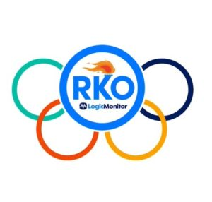 Custom graphics designed for a technology company's annual sales conference (Olympic themed)
