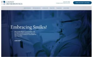 Cooney Orthodontics' updated website as part of their rebrand project