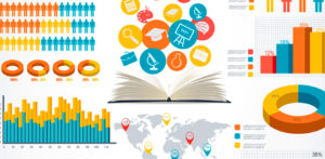A series of colorful infographics and graphs to use in your marketing strategies