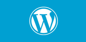 The WordPress logo, the most-used backend for websites and blogs