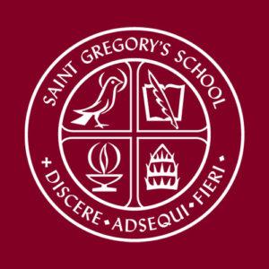 The emblem logo for Saint Gregory's School, a prestigious private elementary school near Albany, NY