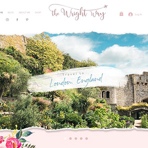 A custom Wix website built by our graphic designers for a travel blog