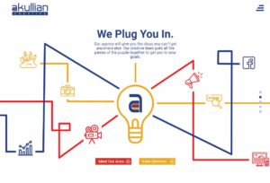 Graphic of lightbulb expanding to reveal various digital aspects of your business's story