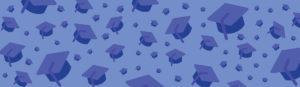 blue graduation cover for university