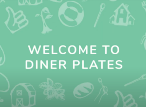 diner plates graphic for top marketing videography in New York