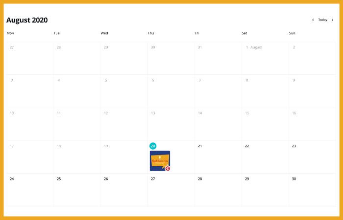 social media calendar for advertising agency