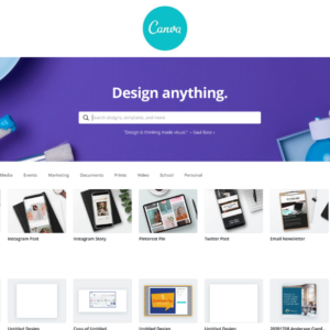 Canva website for easy photoshop substitutes