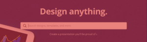 Canva search bar on top design websites