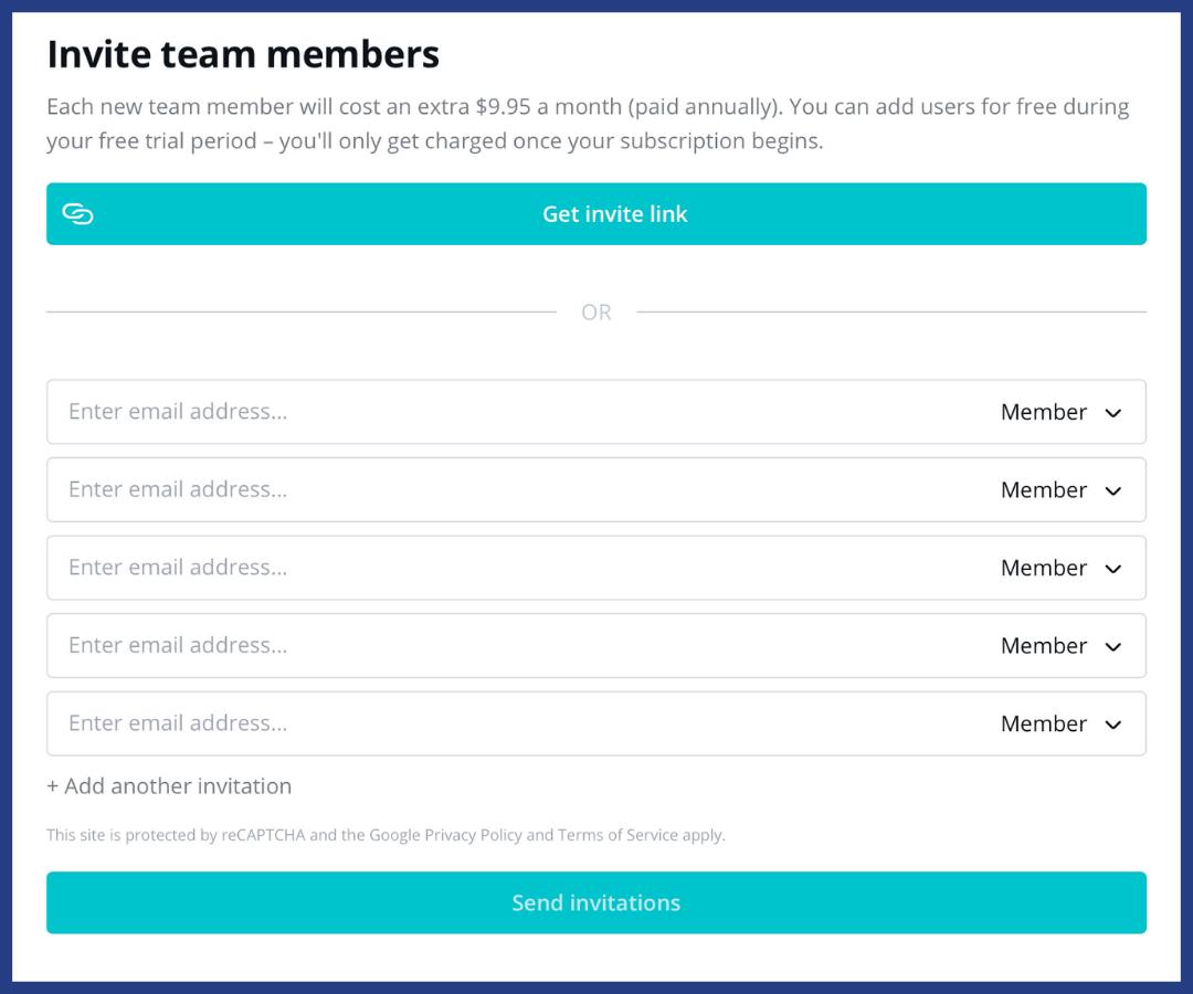 invite team members to graphic design tool