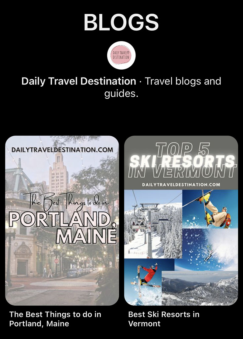 @DailyTravelDestination on Pinterest do a great job sizing their pins correctly to fit Pinterest's image resizing guidelines
