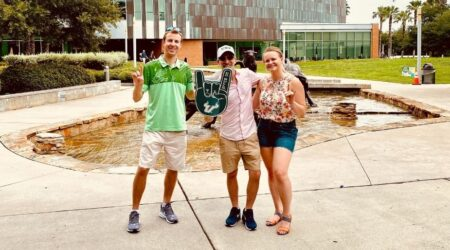 marketing team visits university of south florida in tampa